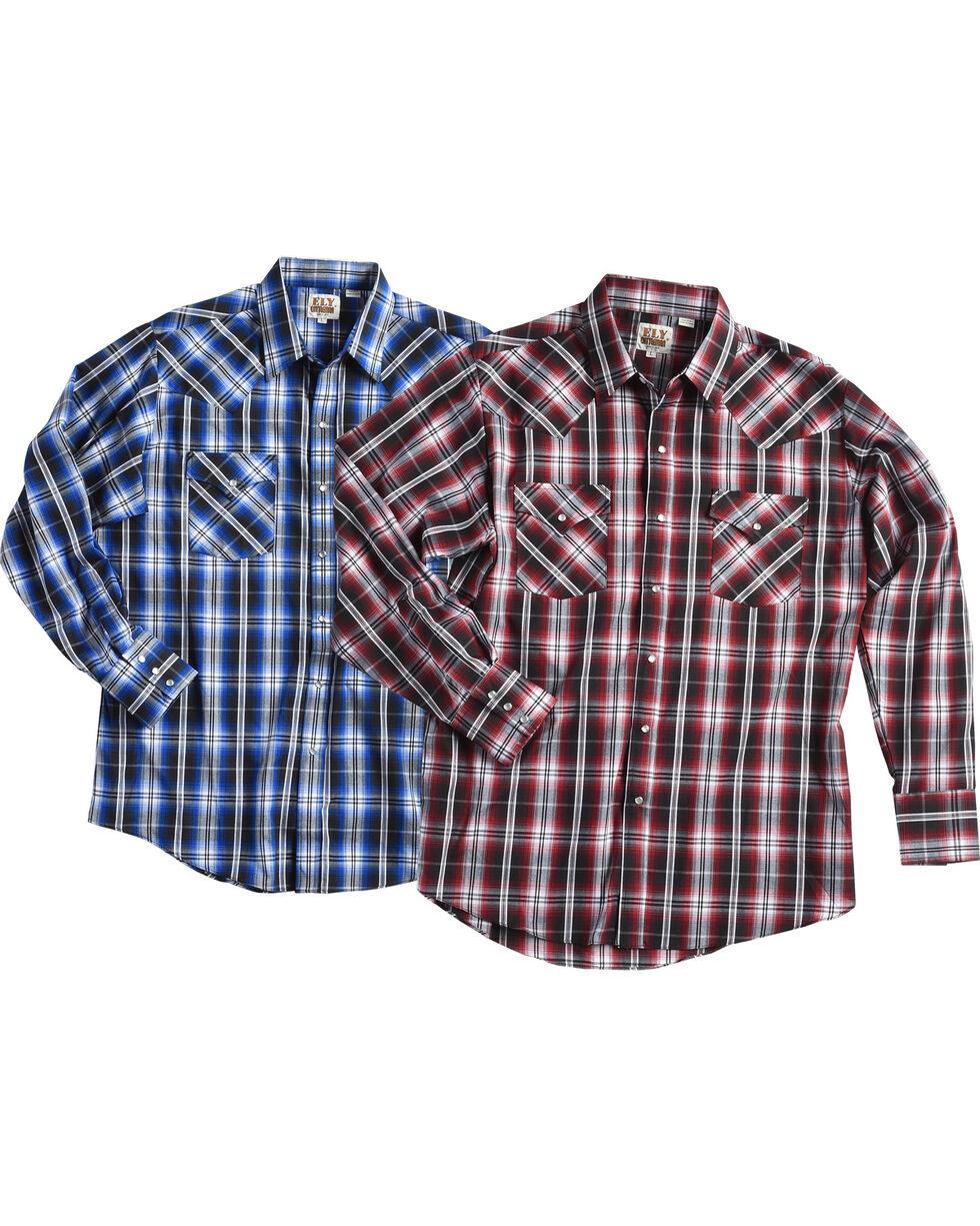 Ely Cattleman Men's Assorted Texture Plaid Shirt, Multi, hi-res