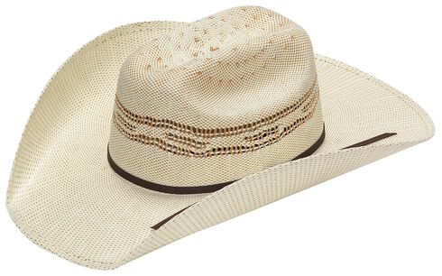 Twister Kids' Tan Bangora Straw Cowboy Hat, Tan, hi-res