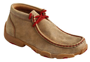 Twisted X  Kids' Leather Driving Mocs, Bomber, hi-res