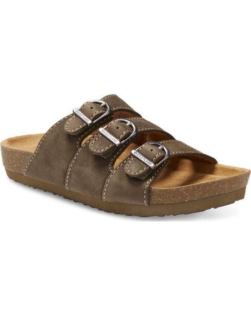 Eastland Women's Olive Faye Strap and Buckle Sandals , Olive, hi-res
