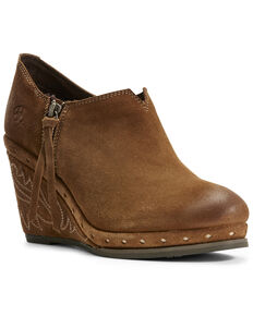 Ariat Women's Briley Dijon Fashion Booties - Round Toe, Dark Yellow, hi-res