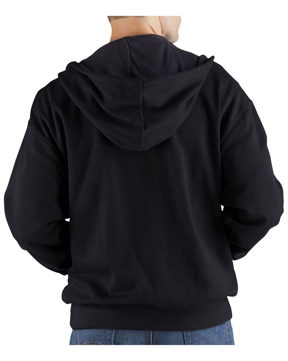 Dickies Midweight Fleece Zip-Up Hooded Work Jacket - Big & Tall, Black, hi-res