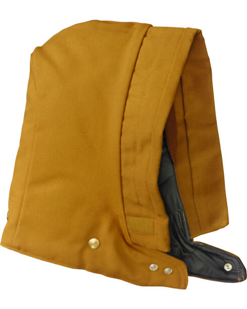 Carhartt Snap-On Arctic Lined Canvas Hood, Brown, hi-res