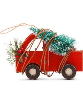 BB Ranch Wooden Truck Ornament, Red, hi-res