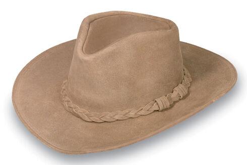 Minnetonka Leather Outback Hat, Tan, hi-res