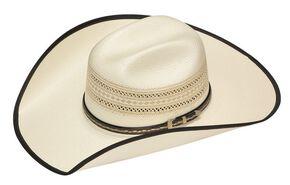 Twister 20X Shantung Bound Edge Buckle Band Straw Cowboy Hat, Tan, hi-res