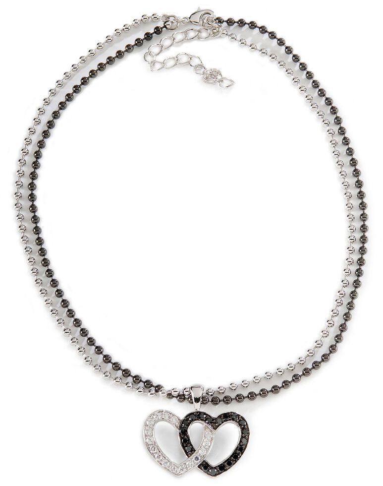 Montana Silversmiths Double Heart Necklace, Silver, hi-res