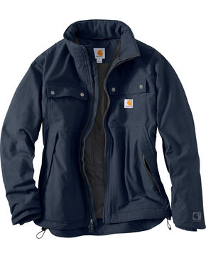 Carhartt Men's Navy Quick Duck Jefferson Traditional Jacket , Navy, hi-res