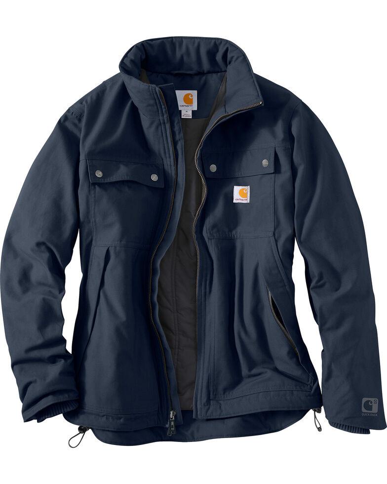 Carhartt Men's Navy Quick Duck Jefferson Traditional Jacket , Navy, hi-res