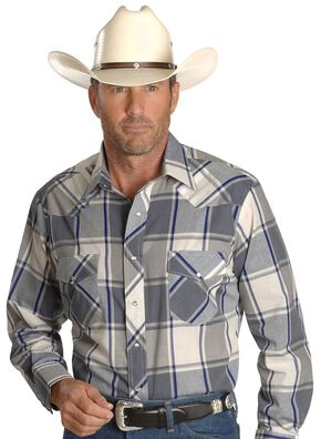 Wrangler Assorted Long Sleeve Western Shirt - Big, Plaid, hi-res