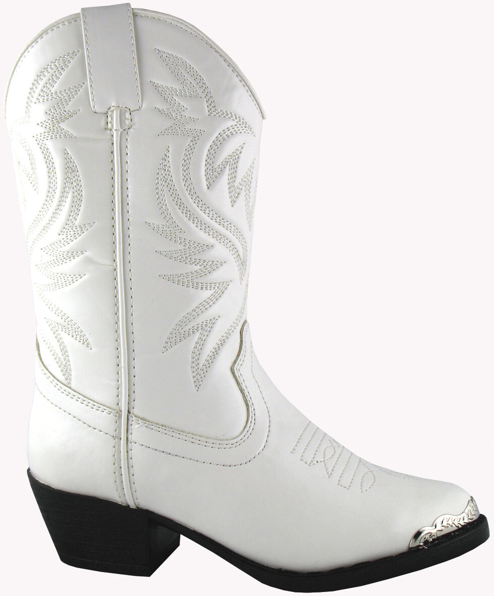 Smoky Mountain Youth Girls' Mesquite Western Boots - Round Toe, White, hi-res