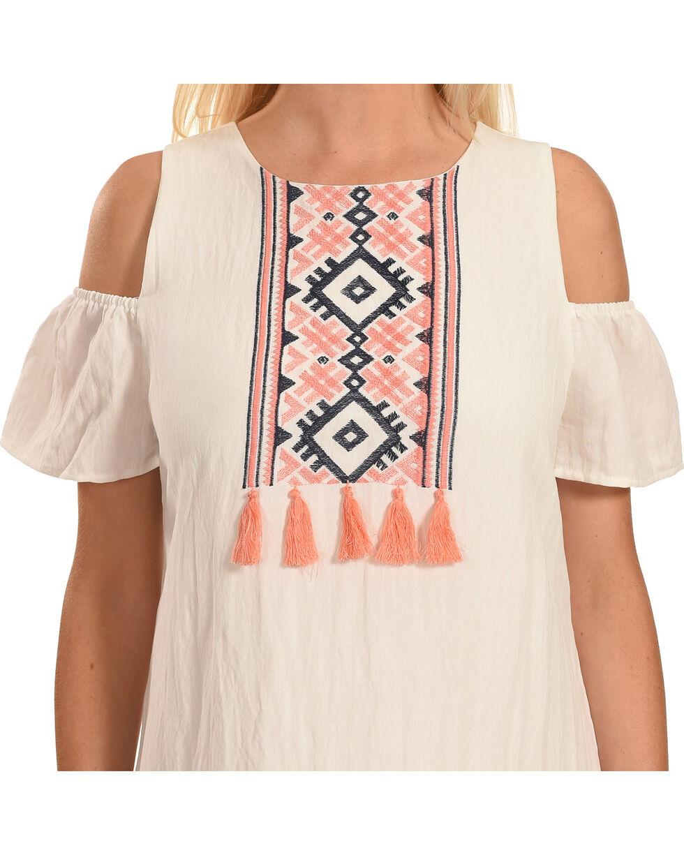Polagram Women's Cold Shoulder Embroidered Dress, , hi-res