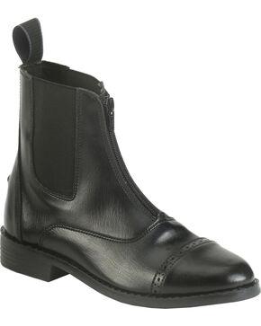 EquiStar Women's Zip Paddock Boots, Black, hi-res