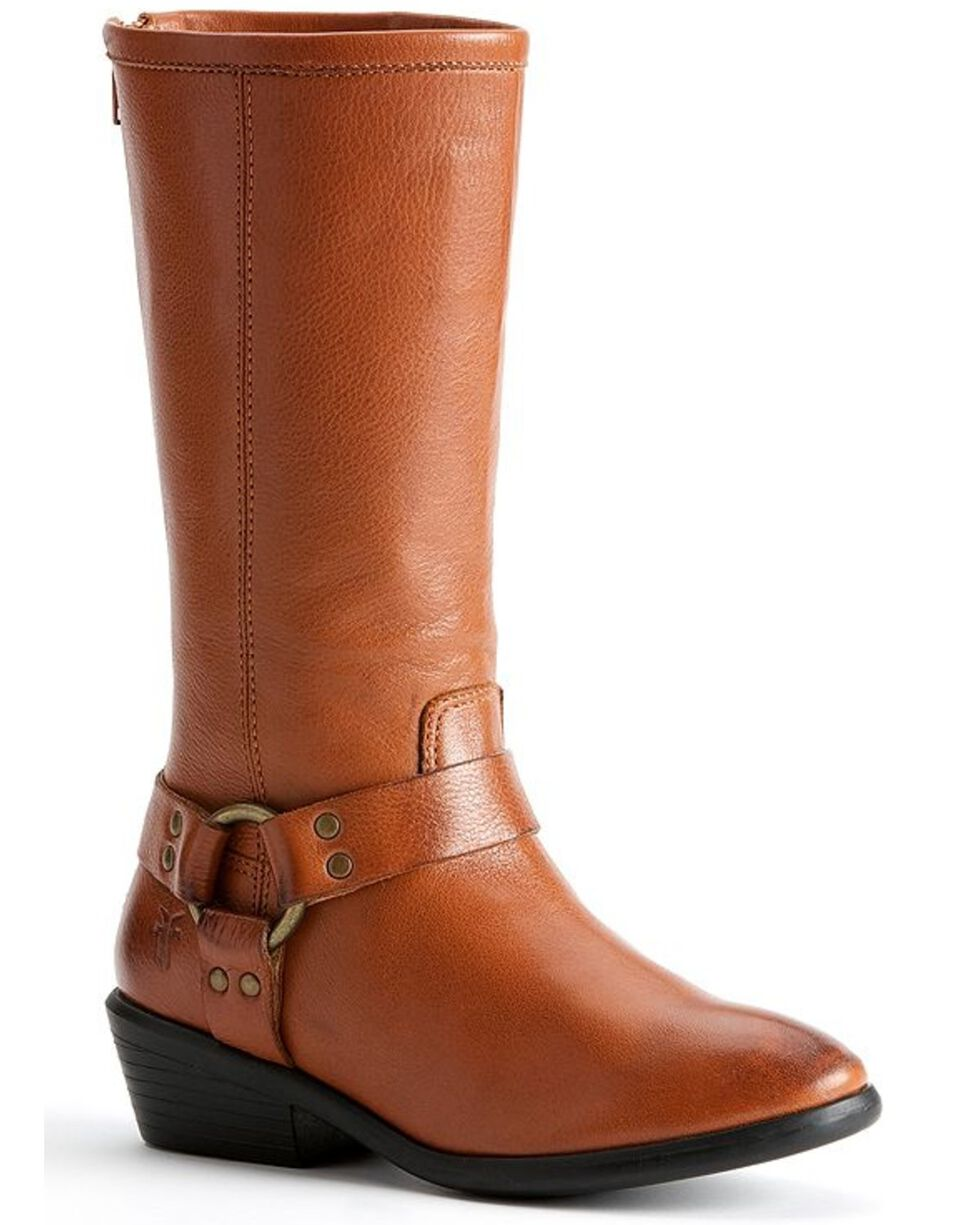 Frye Kids' Phillip Harness Tall Boots, Whiskey, hi-res
