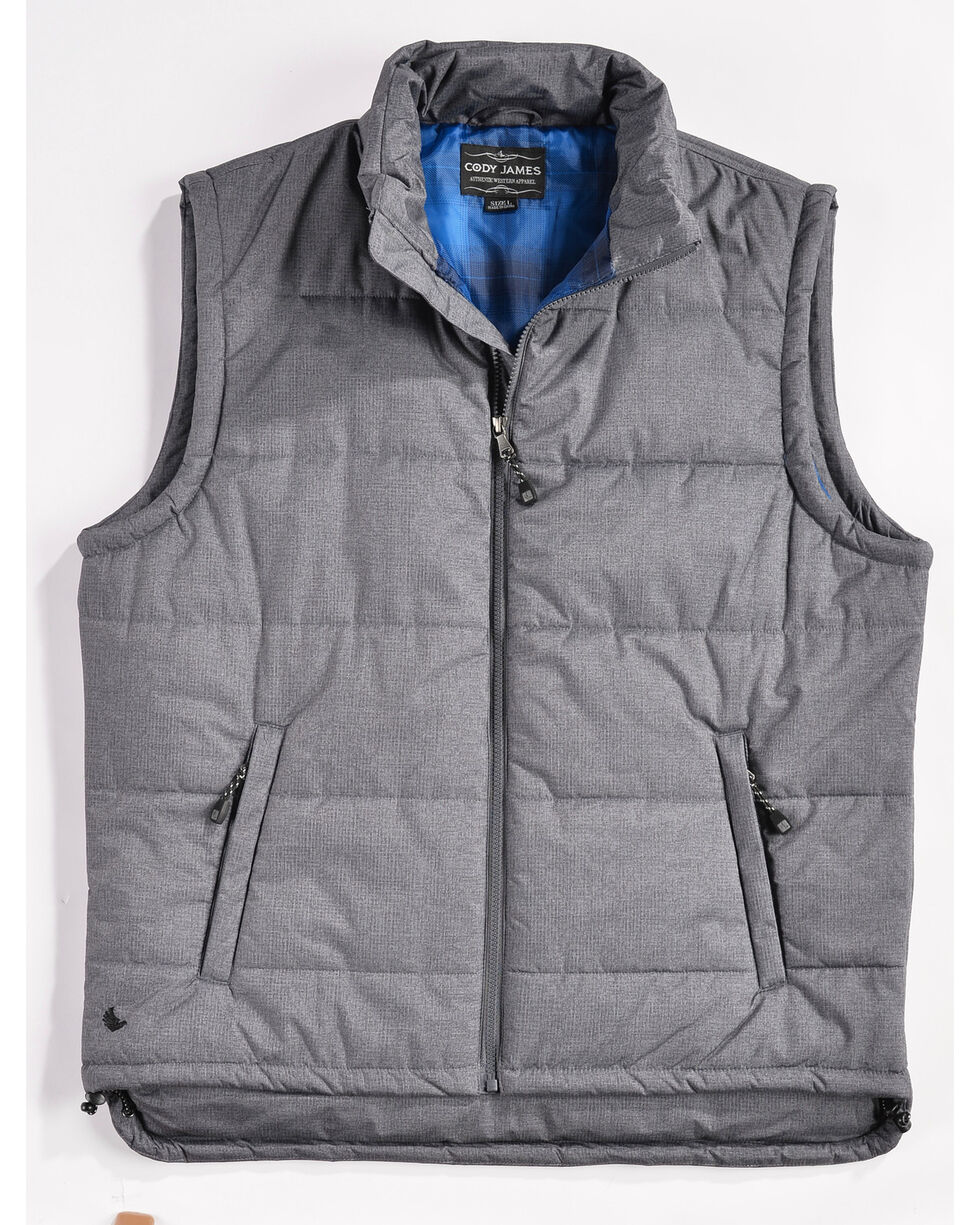Cody James Men's Zip Puffer Vest, Grey, hi-res