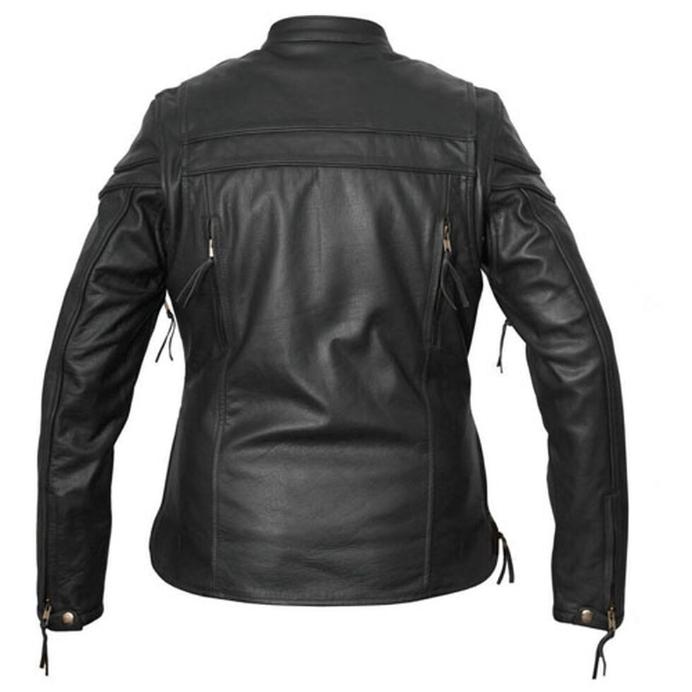 Interstate Leather Women's Moxie Leather Scooter Jacket - Plus Size, , hi-res