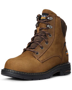 Ariat Women's Brown Casey Work Boots - Composite Toe, Brown, hi-res