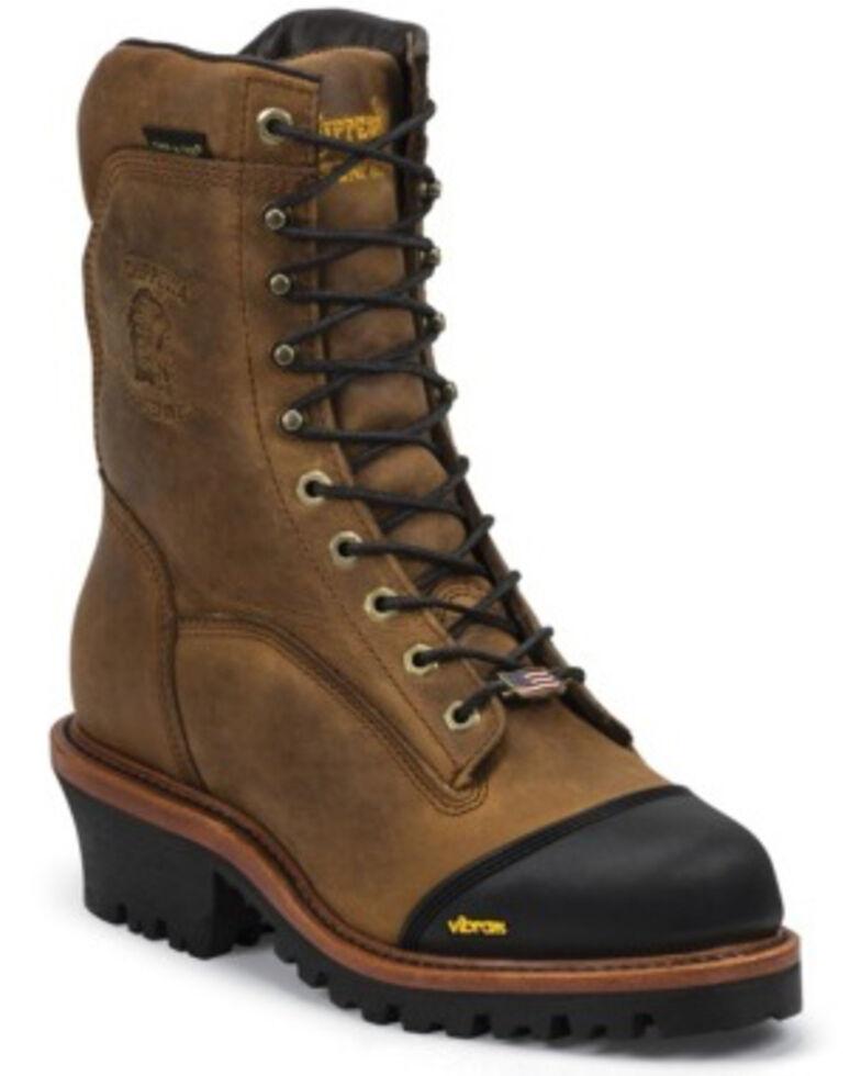 Chippewa Men's Grimstad Golden Waterproof Logger Boots - Composite Toe, Brown, hi-res