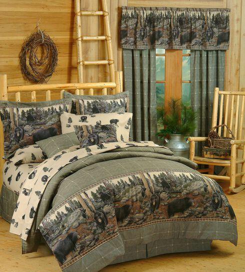 Blue Ridge Trading Bears King Comforter Set, Black, hi-res