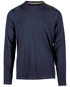 5.11 Tactical Men's Range Ready Merino Wool Long Sleeve Work T-Shirt , Dark Blue, hi-res