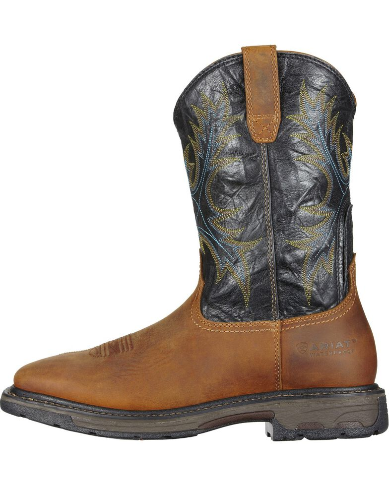 246be25a360e5 Zoomed Image Ariat Workhog Waterproof Work Boots - Square Toe, Aged Bark,  hi-res