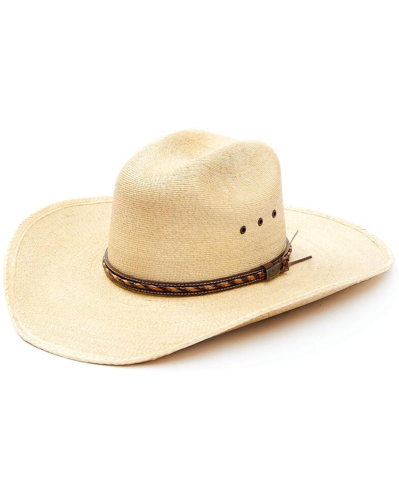 Larry Mahan 30X Lawton Palm Straw Cowboy Hat, Tan, hi-res