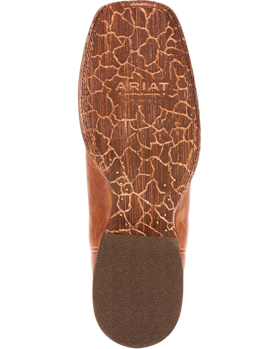 Ariat Men's Circuit Slingshot Tobacco Toffee Performance Cowboy Boots - Square Toe, Tan, hi-res
