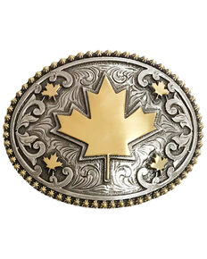 And West Canada Maple Leaf Buckle, Gold, hi-res