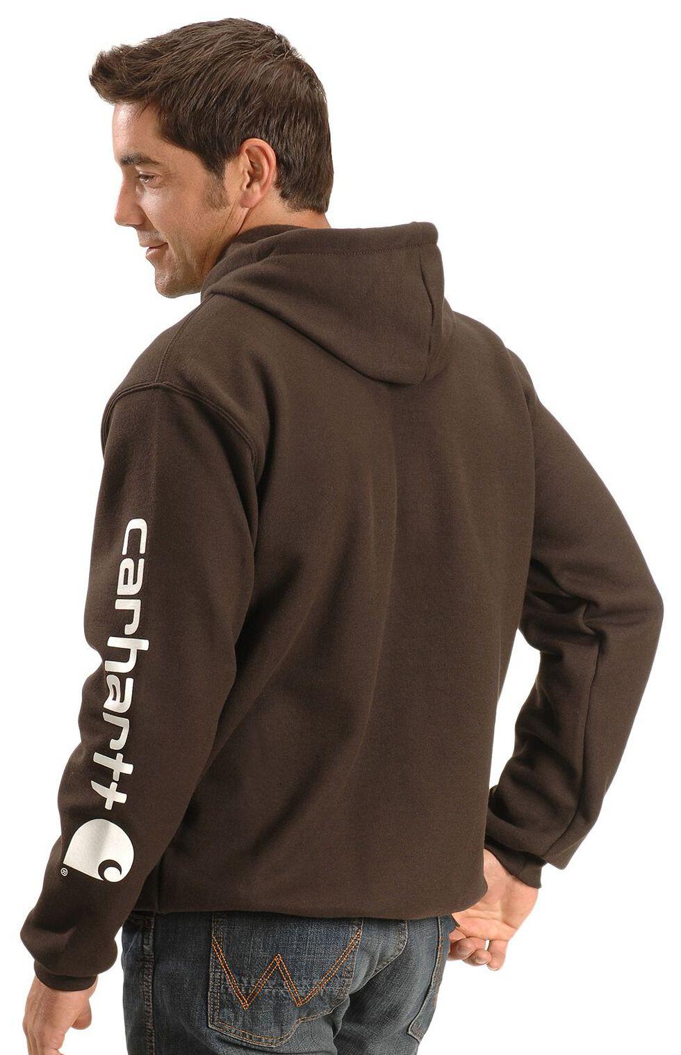 Carhartt Logo Hooded Sweatshirt, Brown, hi-res