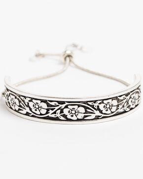 Shyanne Women's Bella Concho Stretch Bracelet, Silver, hi-res