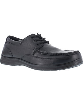 Florsheim Men's Lace Up Work Shoes - Steel Toe , Black, hi-res