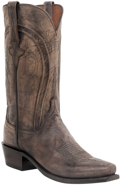 Lucchese Handmade Clint Heirloom Mad Dog Goat Boots- Snip Toe, Pearl, hi-res