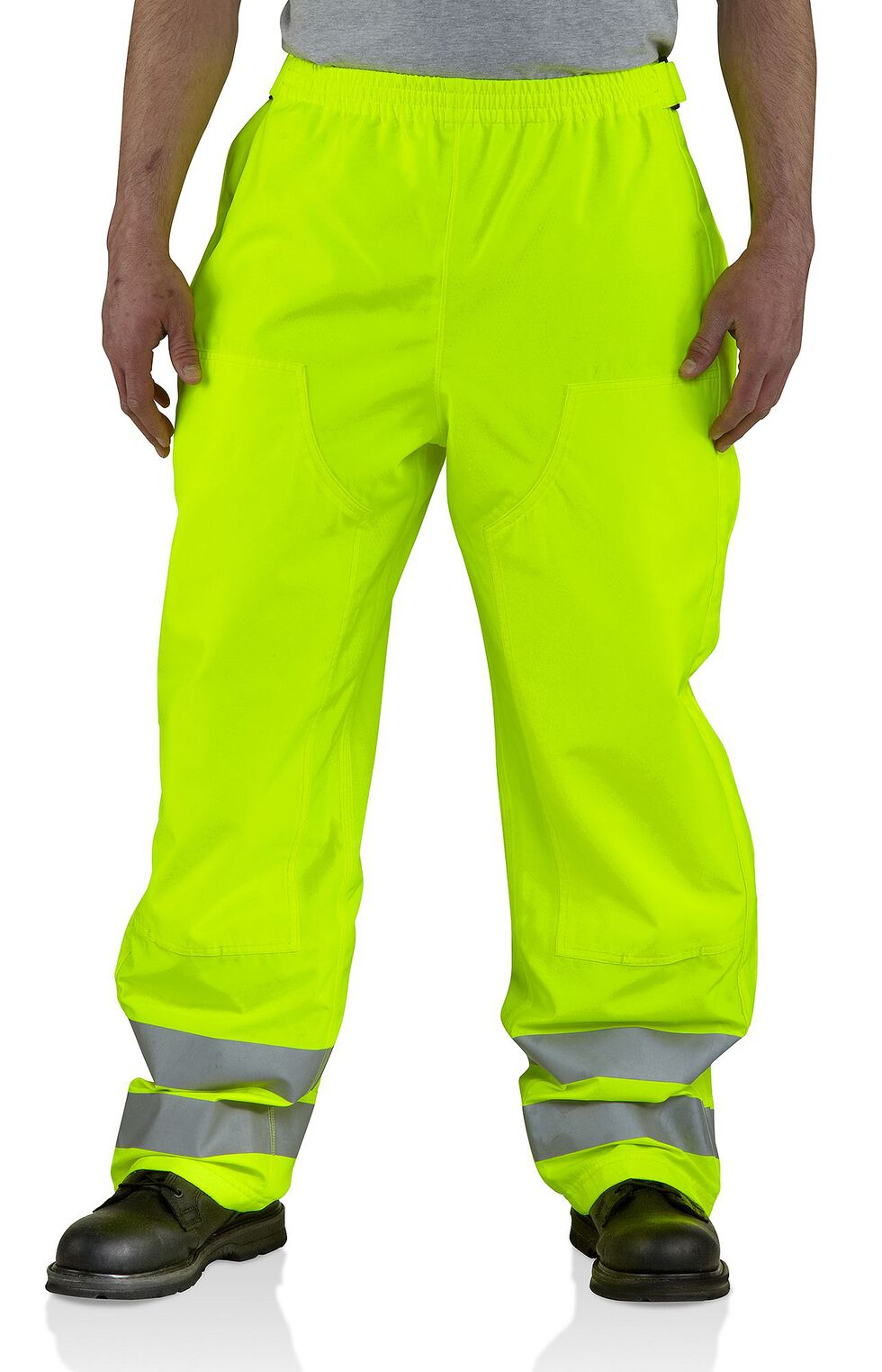 Carhartt High-Visibility Class E Waterproof Pants - Big & Tall, Lime, hi-res