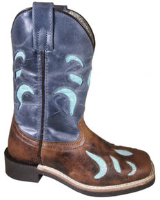 Smoky Mountain Boys' Astrid Western Boots - Square Toe, Brown, hi-res