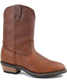 "Ad Tec Men's 12"" Ranch Wellington Work Boots - Soft Toe, Mahogany, hi-res"