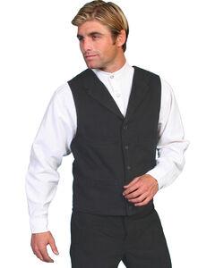 Wahmaker by Scully Brushed Cotton Vest, Black, hi-res