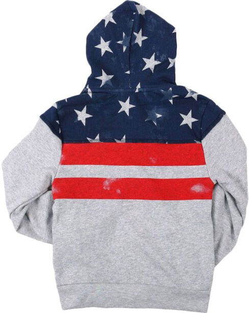 Cody James Toddler Boys' Distressed American Flag Jacket , Grey, hi-res