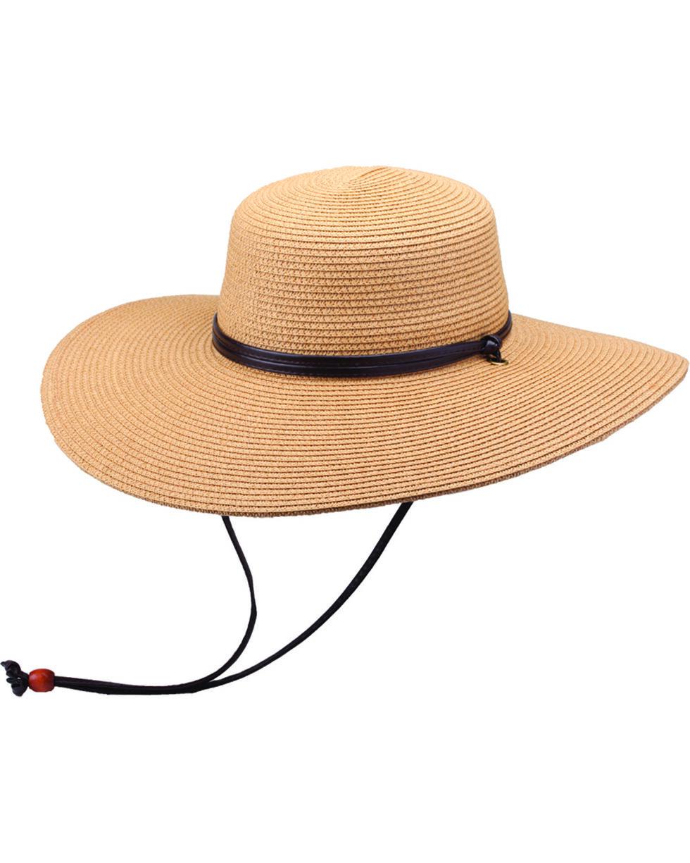 """Peter Grimm Coralia 4 1/2"""" Tan Sun Hat, Tan, hi-res"""