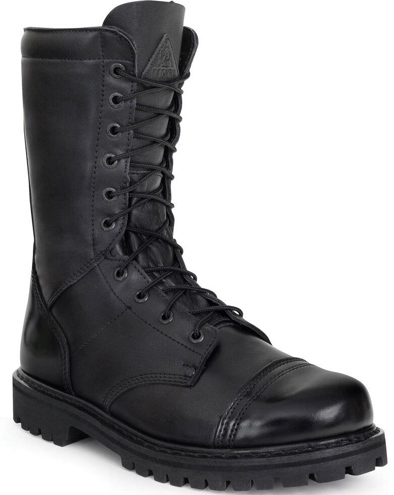Rocky Women's Zipper Jump Boots - Round Toe, Black, hi-res