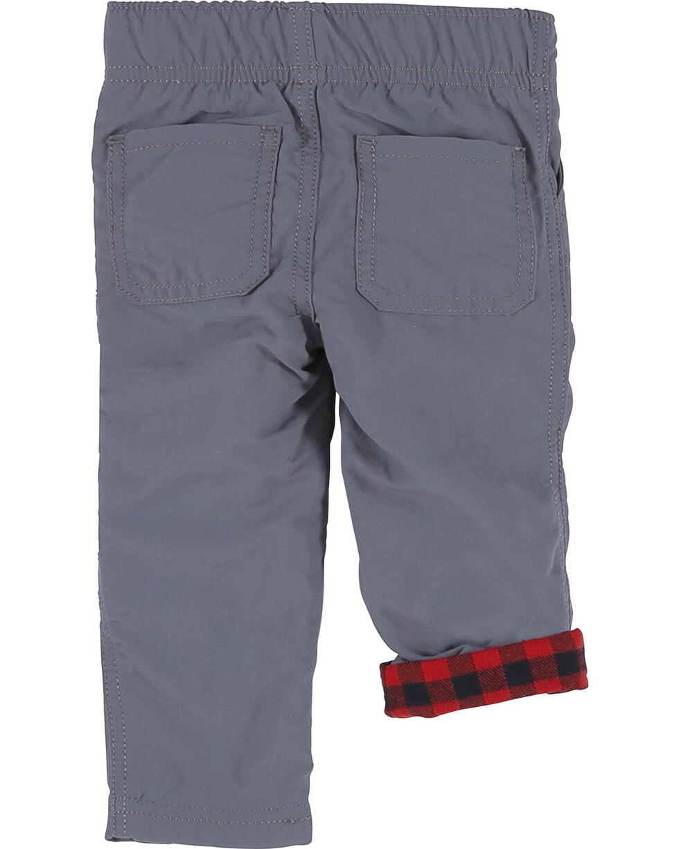 Wrangler Infant Boys' Grey Elastic Waist Lined Pants (0-24 mo.), Grey, hi-res