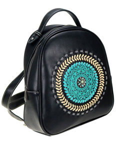Trinity Ranch Women's Black Mandala Floral Collection Backpack, Black, hi-res