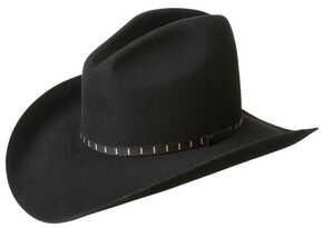 Bailey Men's Elbridge 3X Premium Wool Felt Cowboy Hat, Black, hi-res