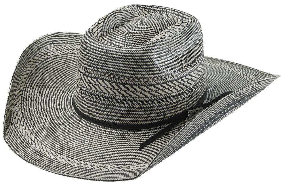 Tony Lama Vegas Black & White Straw Cowboy Hat, Blk/white, hi-res