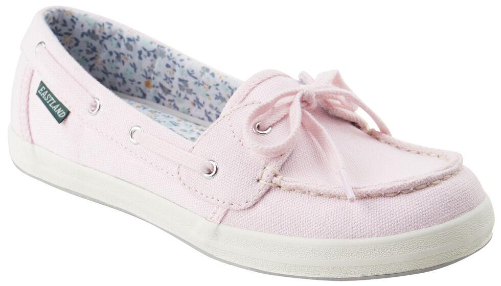 25029456b4d0 Eastland Women s Pink Canvas Skip Boat Shoe Slip-Ons