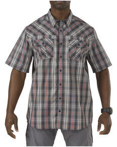 5.11 Tactical Covert Shirt - Double Flex, Navy Plaid, hi-res