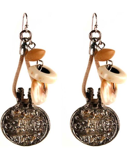 Treska Women's Bead And Cord Drop Earrings, Silver, hi-res