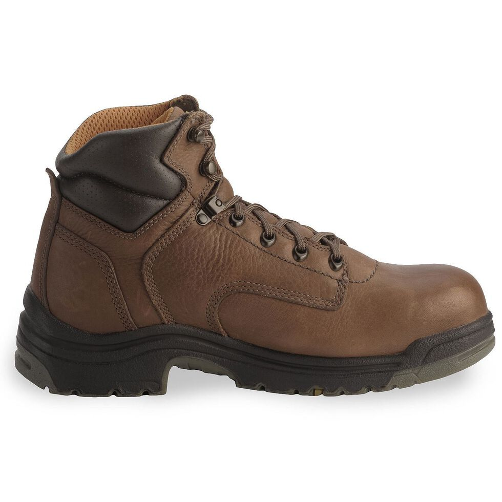 "Timberland Pro Men's 6"" TITAN Work Boots - Soft Toe, Coffee, hi-res"