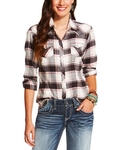Ariat Women's Teton Western Plaid Snap Shirt , Multi, hi-res