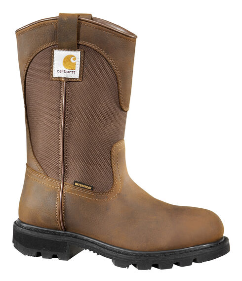 Carhartt Women's Wellington Boots - Safety Toe, Brown, hi-res