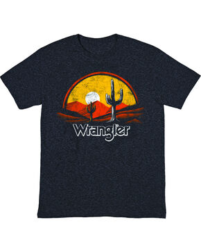 Wrangler Boys' Western Sunset T-Shirt , Black, hi-res